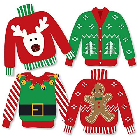 ugly sweater sweater decorations diy holiday christmas