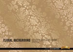 Elegant ornate gold floral background - Free Vector