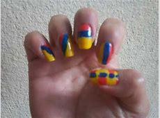 Diseño de uñas 20 de Julio, Colombia ♥ YouTube