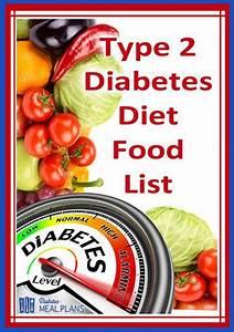 T2 Diabetic Diet Food List  Printable