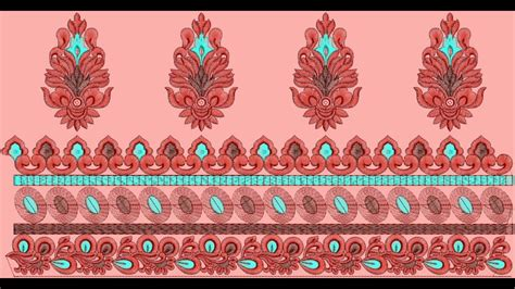 designer dupatta border clothing embroidery designs youtube