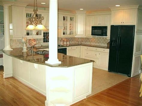 kitchen island wall island with columns to support wall removed between 2040