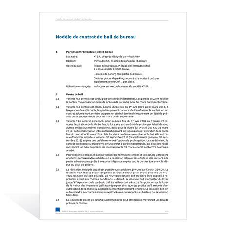Modele Contrat Location Meublé Gratuit by Mod 232 Le De Contrat De Bail De Bureau