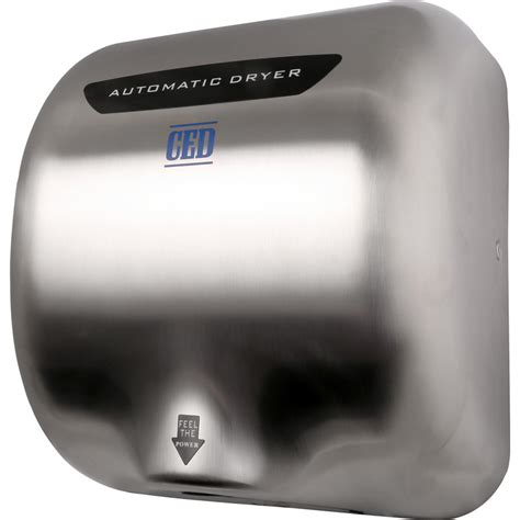 automatic hand dryer brushed chrome