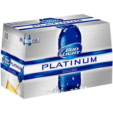 18 Pack Bud Light by Bud Light Platinum 18 Pack 12 Fl Oz Walmart
