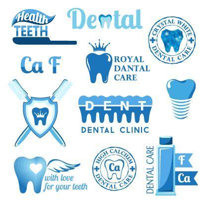 classic dental logos  labels vector graphics