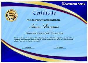 award certificate template border modern certificate diploma award template blue gold