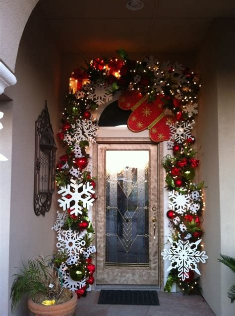 outdoor door christmas decor outside pinterest