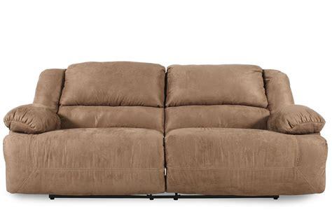 contemporary microfiber sofa contemporary microfiber 96 quot reclining sofa in mocha mathis brothers furniture