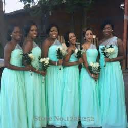 plus size teal bridesmaid dresses aliexpress buy newest mint green bridesmaid dress one shoulder sheer chiffon wedding