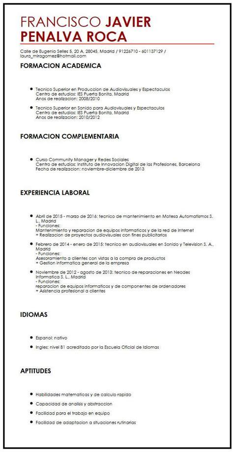 Curriculum Vitae Builder by Ejemplos De Curriculum Vitae Llenos