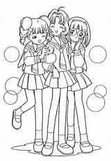 Coloring Pages Friends Friend Anime Printable Sakura Drawings Cardcaptor Cute Print Teenage Cool Fashionable Letscolorit Swift Taylor Template Super Popular sketch template