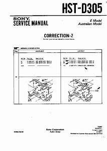 Sony Hst-d305  Serv Man3  Service Manual