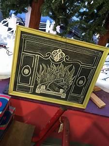 Fireplace Chalkboard Design