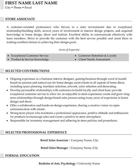 top retail resume templates sles