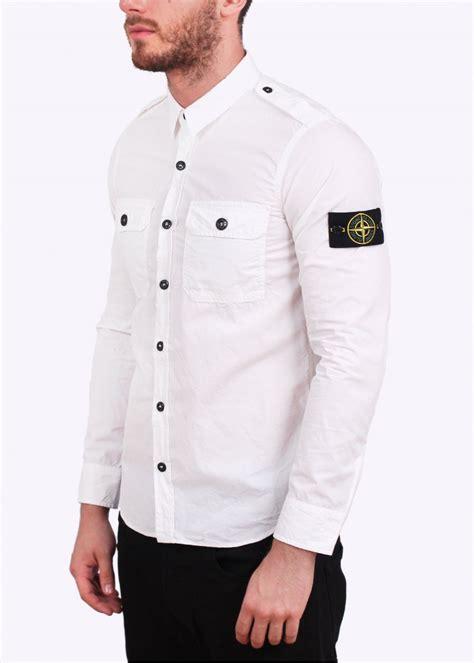green dress shirt mens island pocket shirt white
