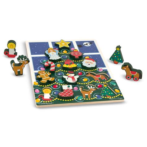 christmas tree chunky puzzle for toddlers educational