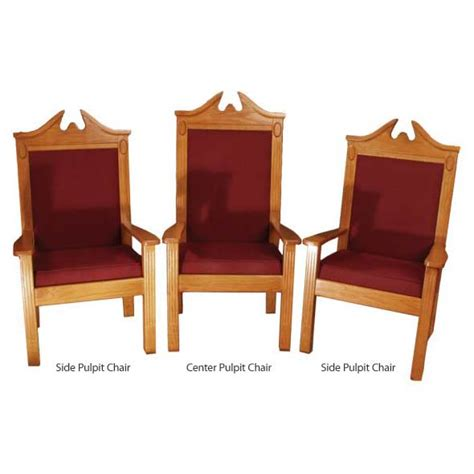 tpc 296c traditional style center pulpit clergy chair