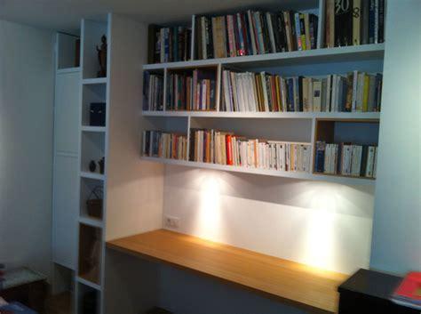 bibliotheque bureau bureau bibliothèque sur mesure en chêne naturel mat