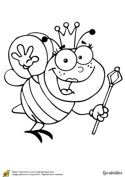 coloriage reine abeille sur hugolescargotcom