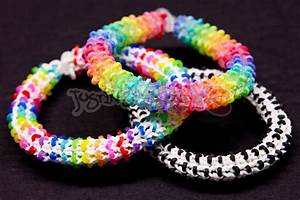 How to Make a Rainbow Loom HEXADOTS Bracelet - Switch Loop ...