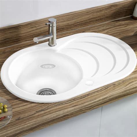 astracast cascade  bowl ceramic gloss white kitchen