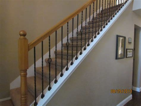 metal banister high quality powder coated iron stair parts ironman1821
