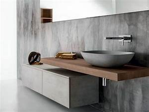 Waschtischunterschrank Mit Schubladen : h ngender waschtischunterschrank aus holz mit schubladen via veneto waschtischunterschrank ~ Indierocktalk.com Haus und Dekorationen