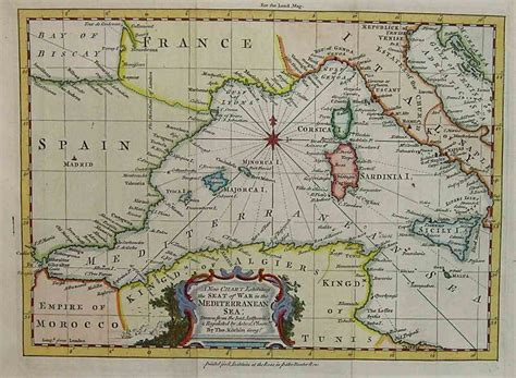 western mediterranean   chart   mediterranean sea