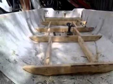 How To Build Aluminum Boat Floor by Flats Boat Build 2 Floor Frame