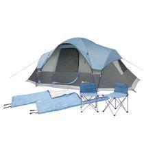 Sentier Ozark Tente Cabine Instantanée Pour 3 Personnes, 10 Pièces : Tente Et Porche Ozark Trail Avec Moustiquaire Pour 10
