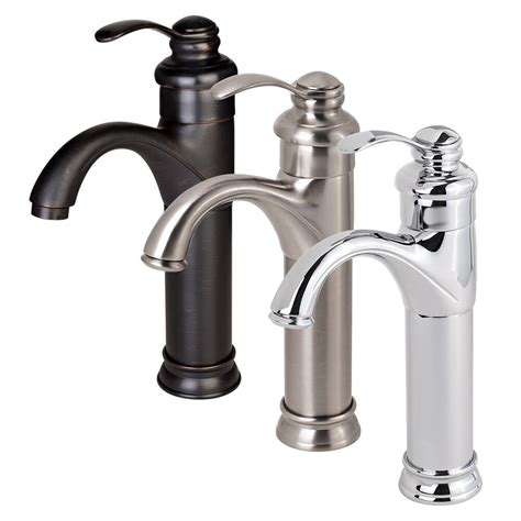bathroom faucet vessel sink lavatory single handle
