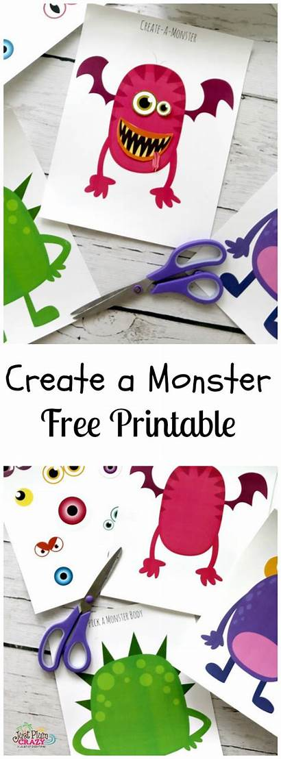 Monster Printable Halloween Monsters Crafts Printables Plumcrazyaboutcoupons