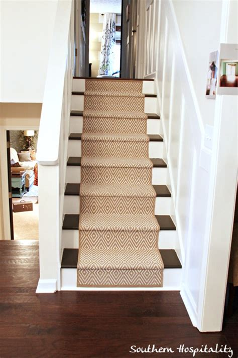 Cut Laminate Flooring From Top Or Bottom by Painted Stairs And Adding Runners Southern Hospitality