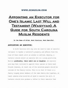 appointing an executor for one39s islamic last will and With muslim will template