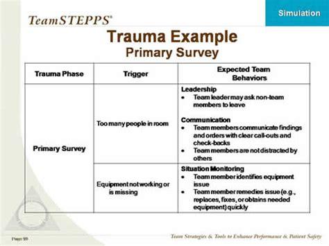 simulation  teamstepps training classroom