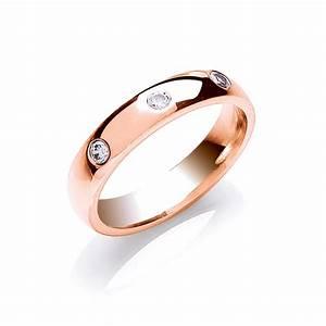 4mm 3 stone flush set brilliant cut diamond wedding ring 0 With flush wedding rings