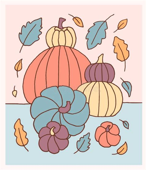 Pastel Pumpkin Silhouettes With Dots On White Background ...