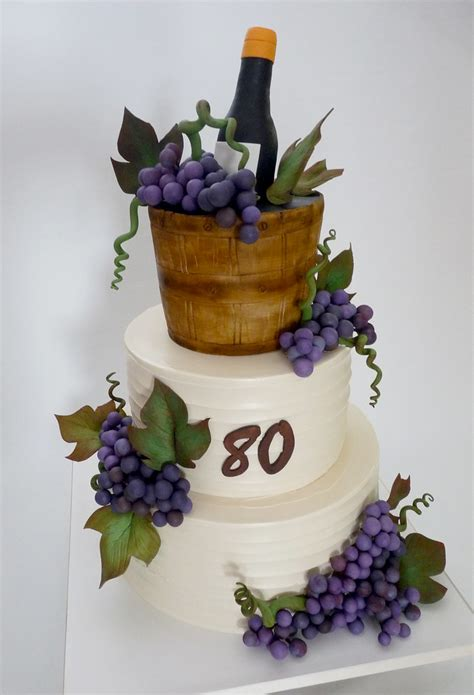 wine cake cake iced  buttercream   top tier