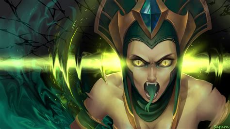 cassiopeia embrace  woman snake league  legends pc game