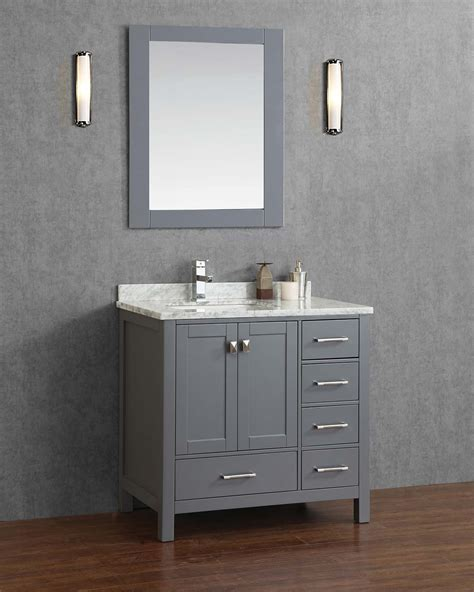 buy vincent   solid wood single bathroom vanity