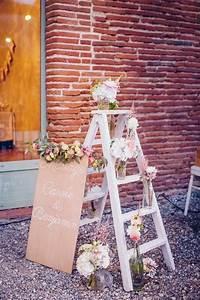 Echelle Decorative Blanche : la d coration salle de mariage comment conomiser de l ~ Teatrodelosmanantiales.com Idées de Décoration