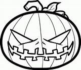 Coloring Pages Pumpkins Pumpkin Scary Popular sketch template