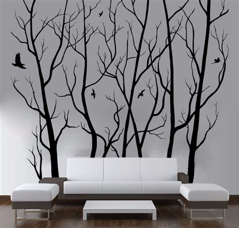 D446 Large Wall Art Decor Vinyl Tree Forest Decal Sticker