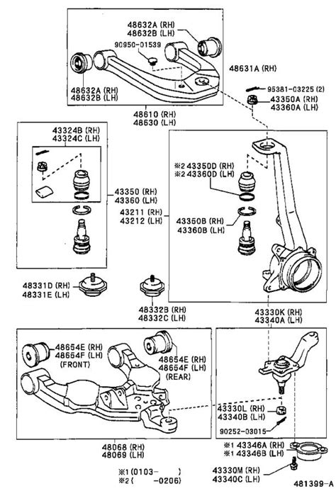 Toyota 4Runner Suspension Control Arm (Right, Front, Upper