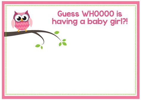 Free Printable Baby Shower Invitations For - free printable owl baby shower invitations other