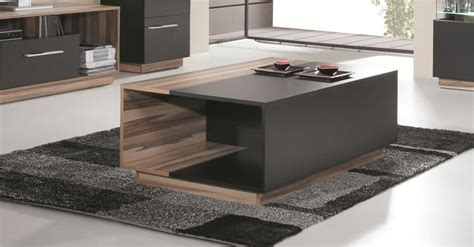 table basse design avec niches de rangement pour salon
