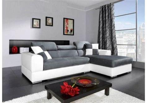 canape panoramique solde canapé d 39 angle madrid i cuir pu et microfibre gris et