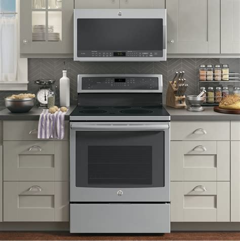 microwave over stove ge pvm9005sjss 2 1 cu ft over the range microwave oven