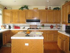 kitchen colors with oak cabinets 2171